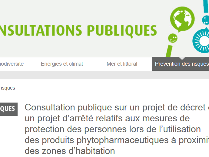 Consultation publique pesticides