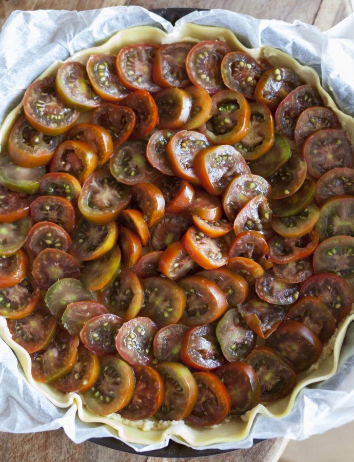Tarte à la tomate et aux amandes