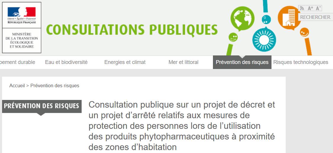 Consultation publique pesticides