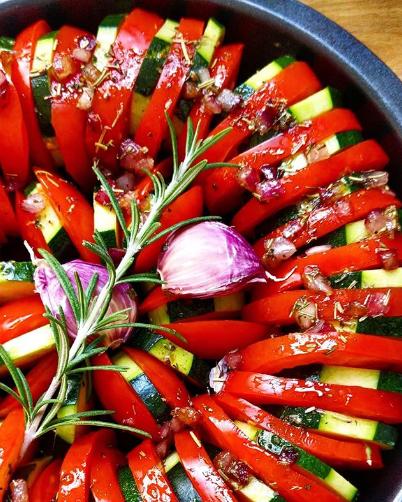 Tian de légumes aux herbes de Provence